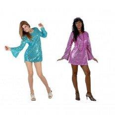 Disfraz de Chica Disco Adulta 2 Colores Surtidos