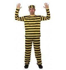 Disfraz de Preso Amarillo Adulto