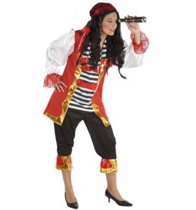 Disfraz de Pirata Mujer Lujo Adulta