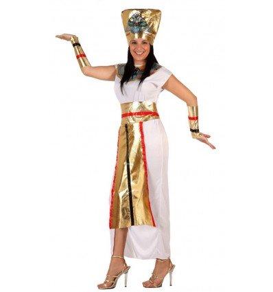Disfraz de Faraona Blanco y Dorado Adulta