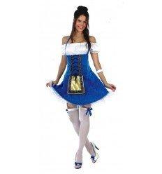 Disfraz de Tirolesa Azul Adulta
