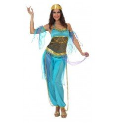Disfraz de Bailarina Árabe Azul Adulta