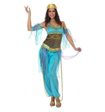 Disfraz de Bailarina Arabe Azul Adulta