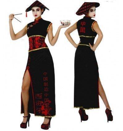 Disfraz de China en Negro Adulta