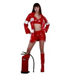 Disfraz de Bombera Rojo Adulta