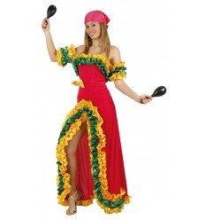 Disfraz de Brasileña Rosa Adulta