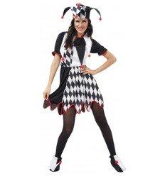 Disfraz de Mujer Bufón Adulta