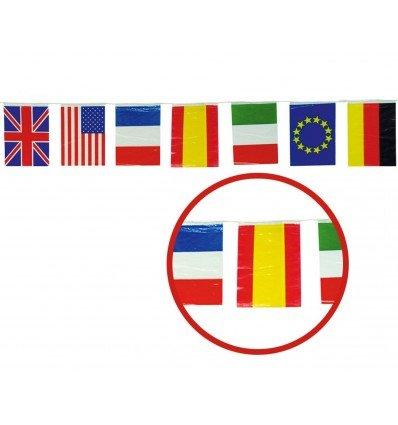 Banderas de Plastico 50 m Internacional 20x30 cm