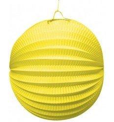 Farol Esférico de Papel Amarillo de 20 cm