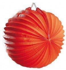Farol Esférico de Papel Naranja de 20 cm