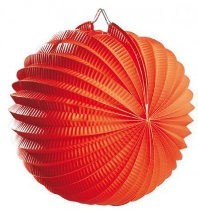 Farol Esférico Naranja 20 cm