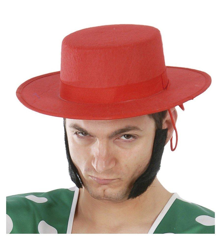 Sombrero de Cordobés Rojo de Fieltro - confetifiestas.com 0014d7db588